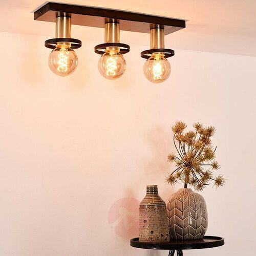 Lucide Anaka 45179/03/30 Plafon lampa sufitowa 3x60W E27 czarny/satynowy mosiądz, 45179/03/30