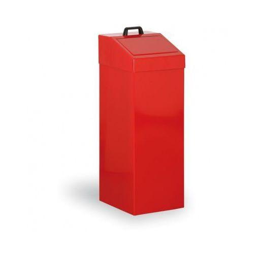 B2b partner Kosze metalowe na odpady segregowane, 100 l, czerwony
