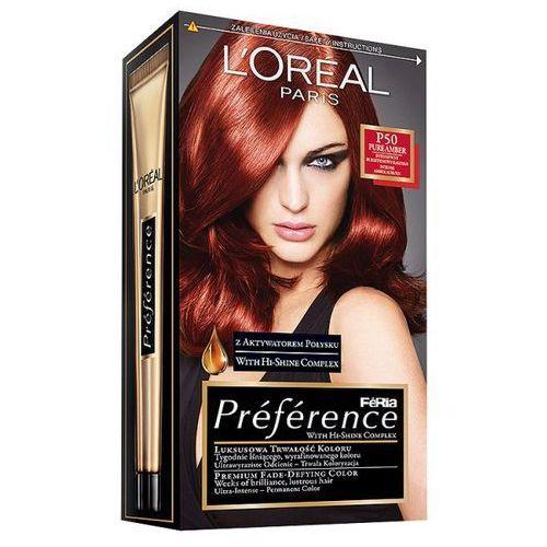 Farba do włosów Feria Preference - P50 Intensywny Bursztynowy Kasztan, L'Oréal