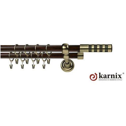 Karnisz Metalowy Prestige podwójny 16/16mm Dakota Premium Antyk mosiądz - wenge - oferta [359f4b71c755941a]