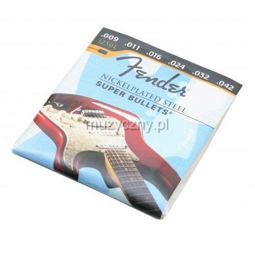 3250l nickel plated struny do gitary elektrycznej 9-42 marki Fender