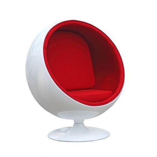 Fotel Kula biało/niebieski (5902385715393)
