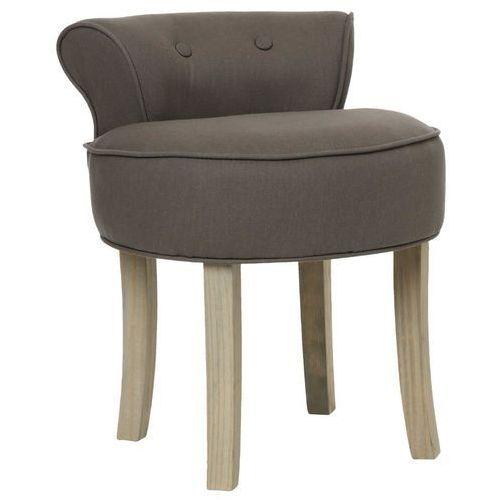 Atmosphera créateur d'intérieur Przytulny taboret z oparciem, stołek, brązowy
