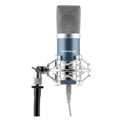 mic-900bl usb mikrofon pojemnościowyniebieski charakterystyka kardioidalna studyjny marki Auna