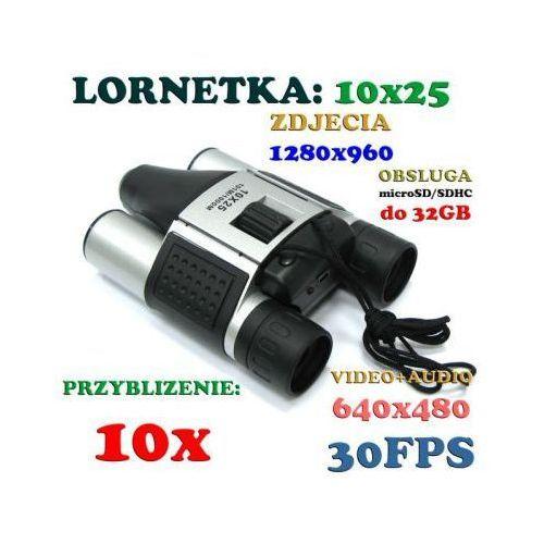 Szpiegowska Lornetka 10x25 + Zapis Video + Aparat Foto + Akcesoria.