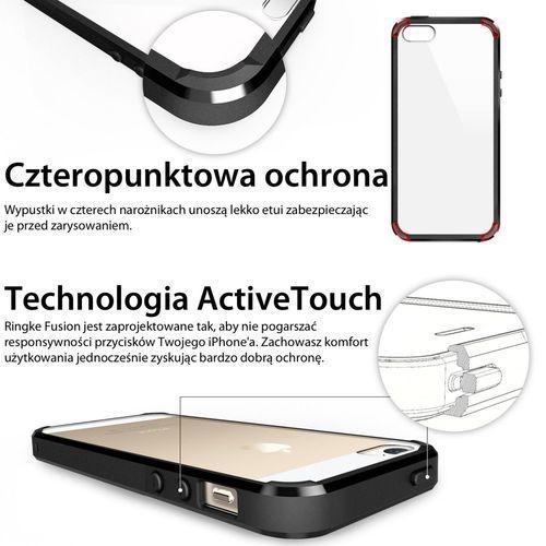 Obudowa Rearth | Etui Ringke Fusion Case + Folia ochronna | Apple iPhone 5 5S SE | kolor Crystal View - Crystal View (8809370154892)