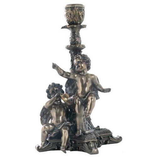 Świecznik z grającymi cherubinkami (wu74594a4) marki Veronese