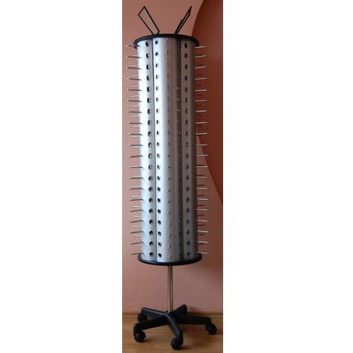 Obrotowy, okrągły stojak na okulary - w kolorze srebrnym, na 120par, 00728