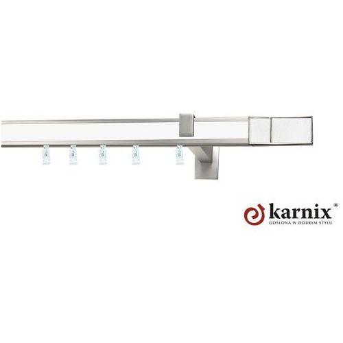 Karnisz apartamentowy AVENO pojedynczy 31x13mm Croco White Chrom mat - biały - oferta [355e4578c7459419]