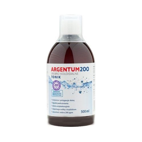 Argentum200 500ml srebro koloidalne tonik 200ppm