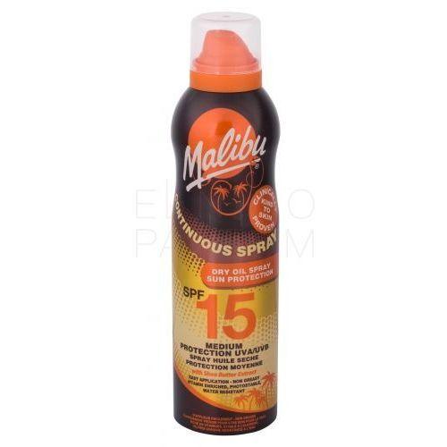 Malibu continuous spray dry oil spf15 preparat do opalania ciała 175 ml dla kobiet (5025135116919)