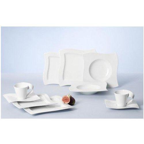 Villeroy & boch newwave basic zestaw naczyń/elegancka zastawy stołowej wykonana z porcelany o łukowatym kształcie/nadaje się do 6 osób/1 x zestaw (30 sztuk) (4003686203709)
