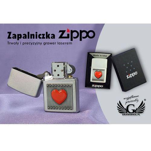 Zapalniczka serce czerwone satin chrome marki Zippo