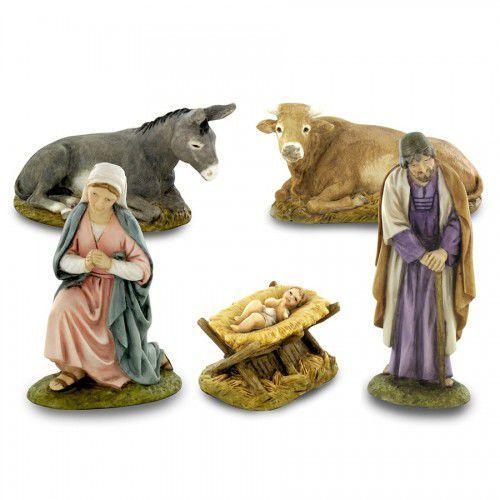 Figurki bożonarodzeniowe do szopki, komplet 5 sztuk, 10 cm marki Produkt włoski