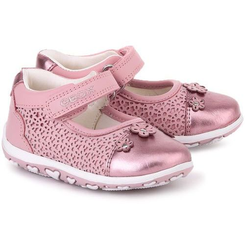 GEOX Baby Bubble - Różowe Skórzane Baleriny Dziecięce - B62E6B 08554 C8004
