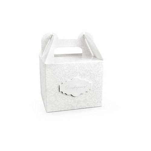 Ozdobne pudełko na ciasto weselne 1 szt.