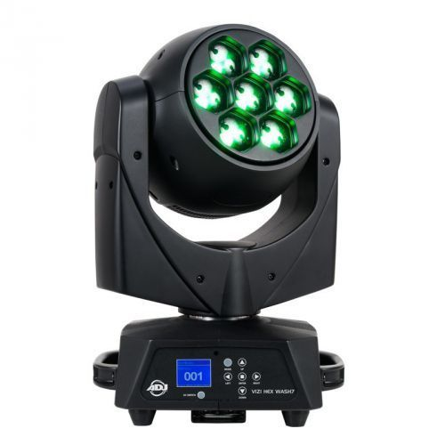 American DJ Vizi HEX Wash 7 ruchoma głowa LED DMX Wash Zoom 7x15W RGBWA+UV