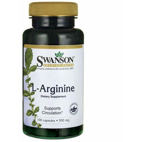 Swanson health produkcts fargo, nd 58108, usa, dystrybutor: pro sport L- arginina 500mcg l- arginine 100 kapsułek swanson