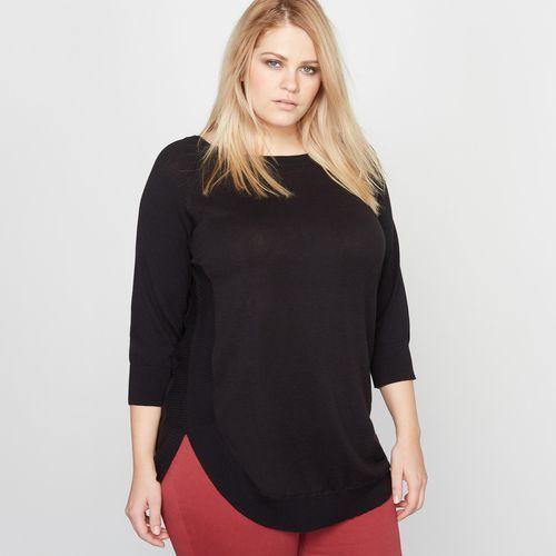 Sweter z zaokrąglonym dołem, kolor czarny