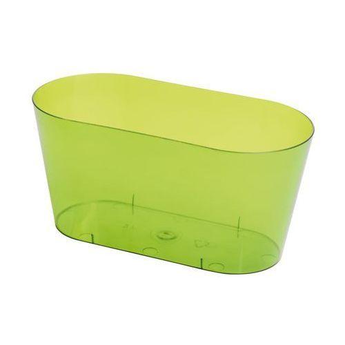 Osłonka na storczyki 23 x 11 cm plastikowa zielona (5907474333830)
