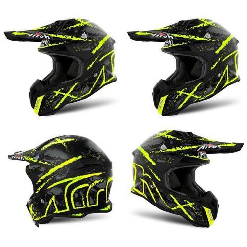 Kask terminator open vision carnage yell. gloss marki Airoh