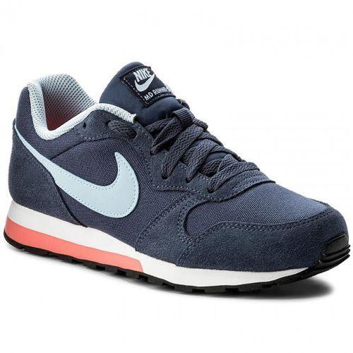 NIKE Md Runner 2 GS 807319-405 - damskie buty sportowe, kolor:navy, kolor niebieski