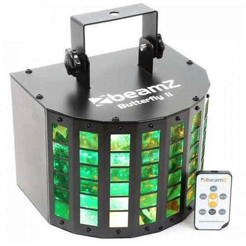 Beamz Butterfly ii led mini derby 6 x 3 w rgbawp ir