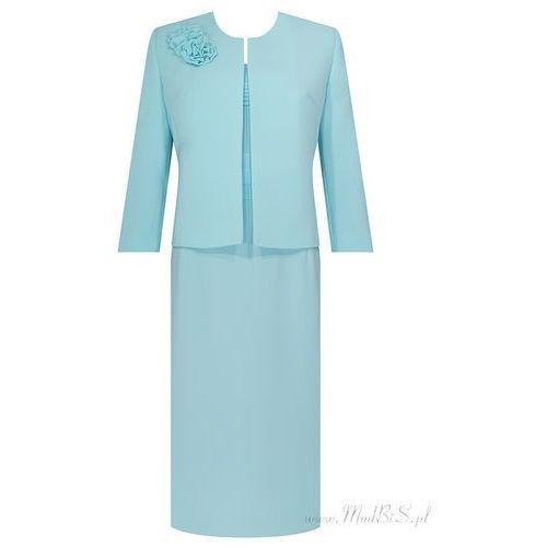 Kostium damski Izolda IV, wiosenny komplet z eleganckiej tkaniny. - Izolda IV - produkt z kategorii- garsonki i kostiumy