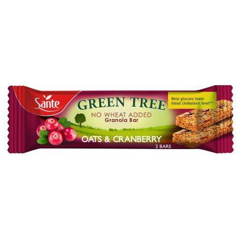 Baton granola Green Tree z żurawiną 40g Sante (5900617033864)