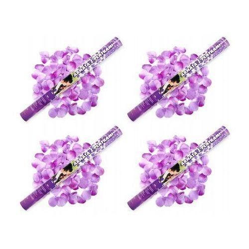 Ap Tuba strzelająca, liliowe sztuczne płatki róż, 60 cm, 1 szt. (5901157445018)