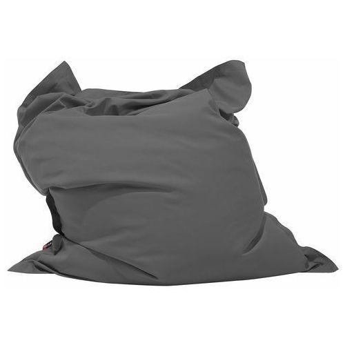 Pufa do siedzenia z powłoczką wewnętrzną 140 x 180 cm ciemnoszara, kolor szary