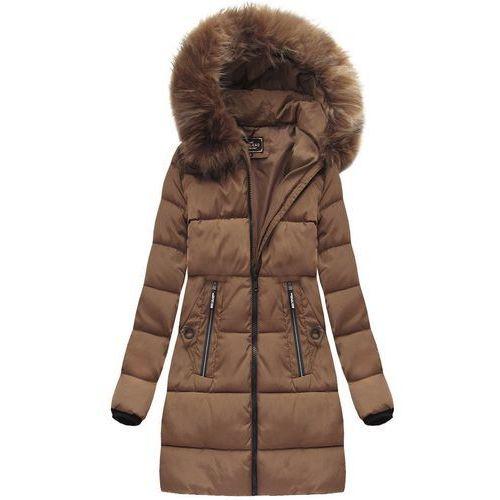 8a56fab302f5b PIKOWANA KURTKA Z KAPTUREM KARMELOWA (7756) - brązowy, kolor brązowy 219,90  zł wyjątkowo ciepła, dłuższa kurtka zimowa z kapturem. O konwencjonalnym  kroju.