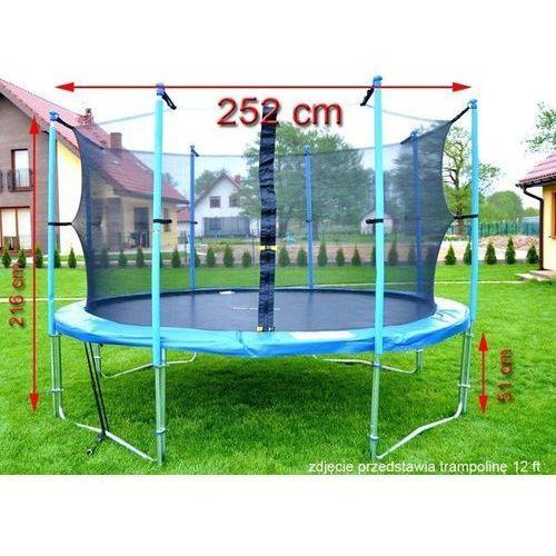 Top fitness Trampolina ogrodowa z siatką o średnicy 252 cm 8 ft - 252 cm