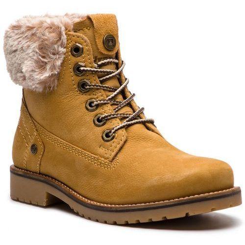 faffbbfcc50af Trapery - creek alaska wl182502 tan yellow 24 marki Wrangler 289,00 zł  trafne na trudniejszy teren buty marki Wrangler. Wierzchnią część butów  formuje skóra ...