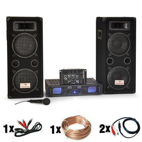 Elektronik-star Zestaw 'dj-25' 1600w glosniki amplifier mikrofon