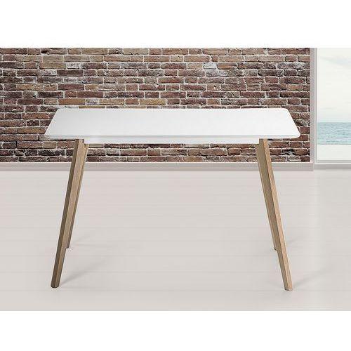 Beliani Stół do kuchni, jadalni lub salonu - biały - 120x80 cm - fly (7081458985371)