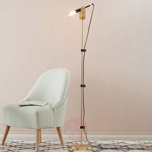 Markslojd Lampa podłogowa winston floor bru.brass/clear glass 106842 - – rabat w koszyku (7330024567122)
