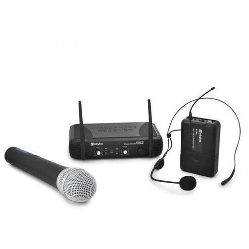 Bezprzewodowy zestaw mikrofonowy Skytec STWM722 UHF