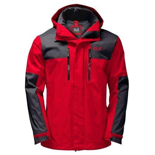 Przeciwdeszczowa kurtka męska JASPER FLEX MEN peak red - S, kolor czerwony
