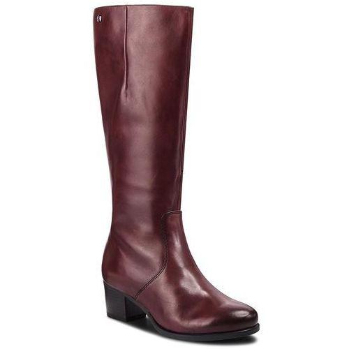 Kozaki CAPRICE - 9-25519-21 Bordeaux Nappa 540, kolor czerwony