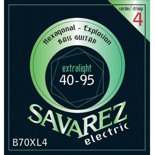 Savarez (682305) struny do gitary basowej Hexagonal Explosion 4-str. Ex-Light