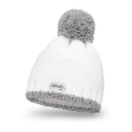 Zimowa czapka dziewczęca PaMaMi - Biały (5902934023429)