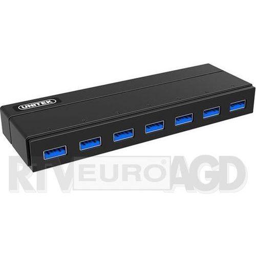 HUB USB Unitek USB 3.0 z zasilaczem i BC 1.2 (Y-3184) Szybka dostawa! Darmowy odbiór w 21 miastach!, Y-3184