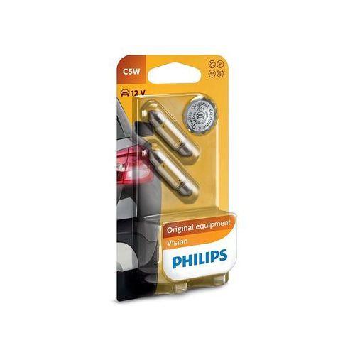 Philips Zestaw 2x żarówka samochodowa vision 12844b2 c5w sw8,5/5w/12v (8711500055514)