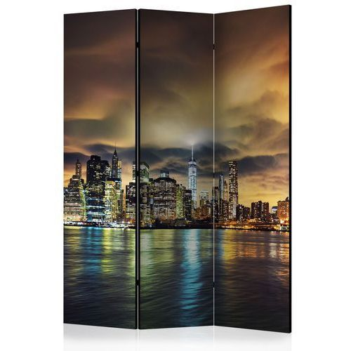 Parawan 3-częściowy - nowojorskie niebo [room dividers] marki Artgeist