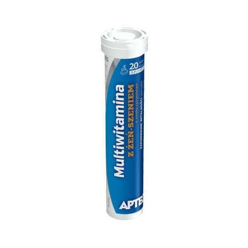 Tabletki APTEO Multiwitamina z żeń-szeniem o smaku cytrynowym x 20 tabletek musujących