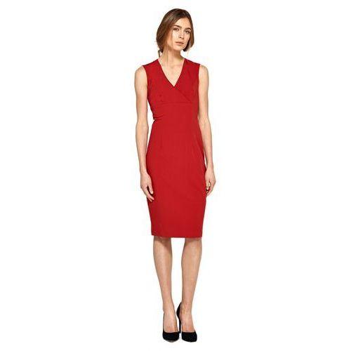 Nife Ołówkowa sukienka z dekoltem v - czerwony - s98