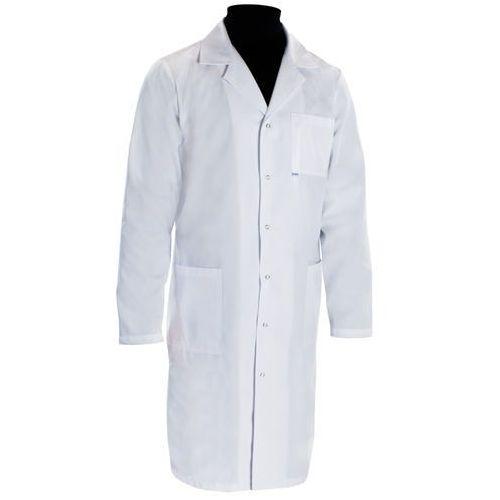 Fartuch medyczny męski prosty 100 elano-bawełna - dla lekarza
