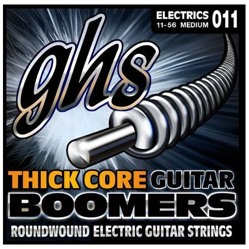 GHS Thick Core Guitar Boomers struny do gitary elektrycznej, Medium,.011-.056