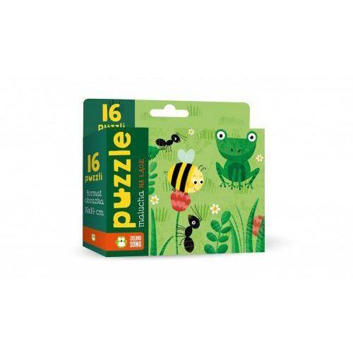 Puzzle malucha na łące 16 elementów Zielona Sowa